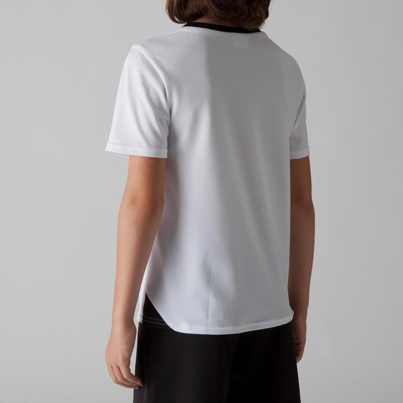 เสื้อฟุตบอลสำหรับเด็กรุ่น F100 (สีขาว)