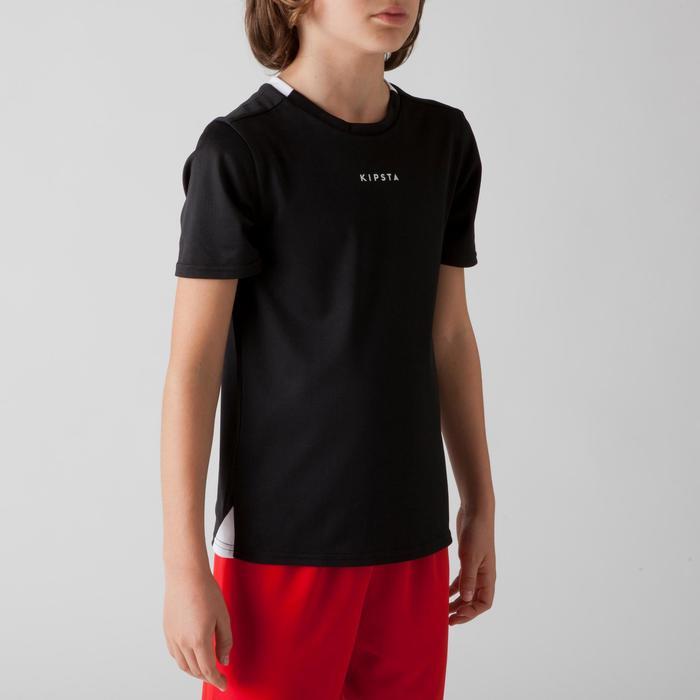 Fußballtrikot F100 Kinder schwarz