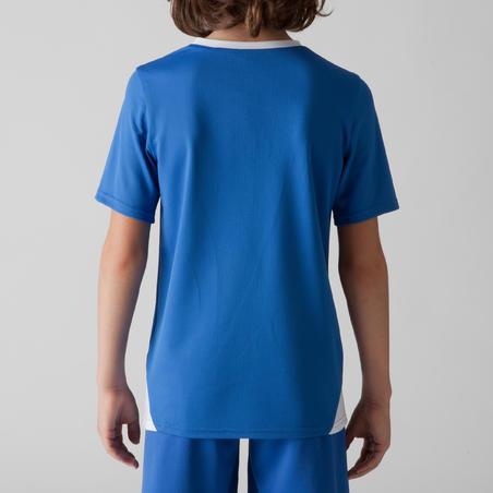 Maillot de soccer enfant F100 bleu