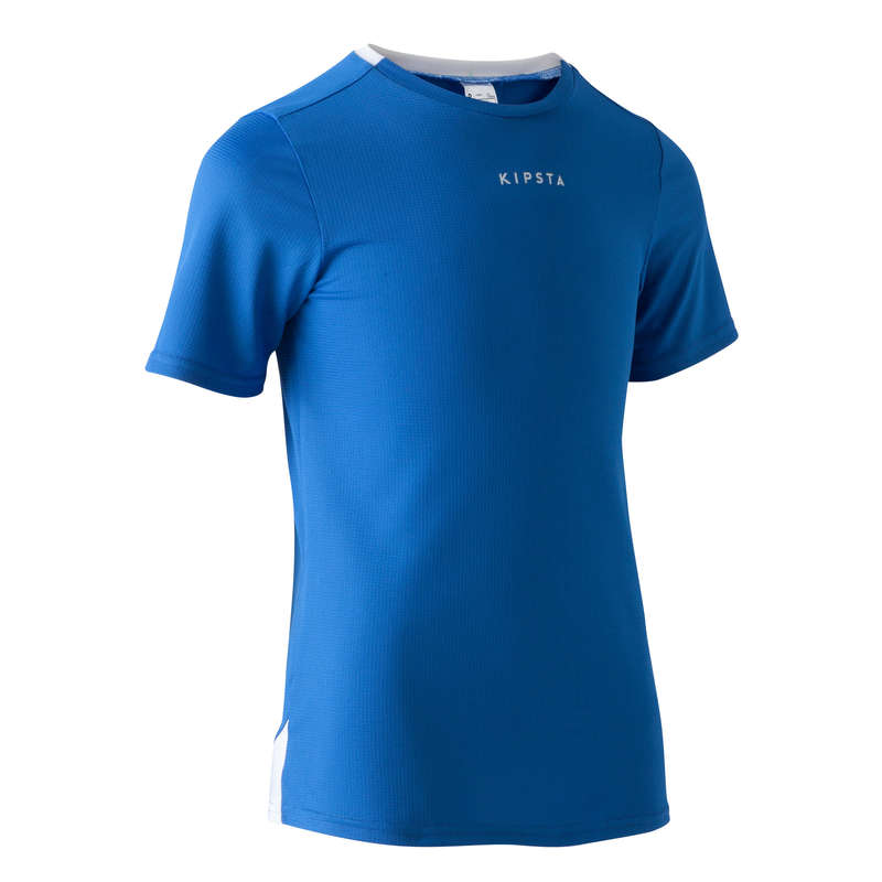JR WARM WEATHER OUTFIT Football - F100 Kids' - Blue KIPSTA - Football Clothing