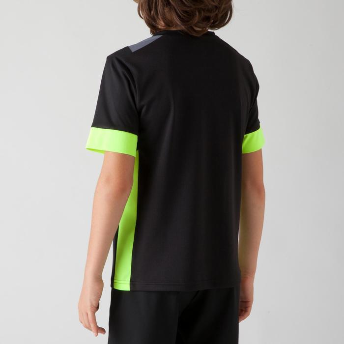 Fußballtrikot F500 Kinder schwarz/gelb