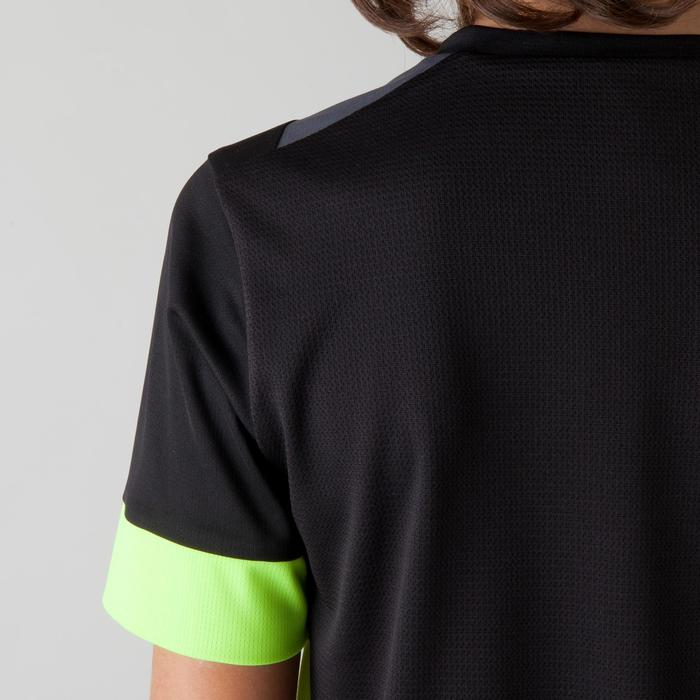 Voetbalshirt voor kinderen F500 zwart en geel