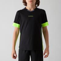 Playera de fútbol para niño F500 negra