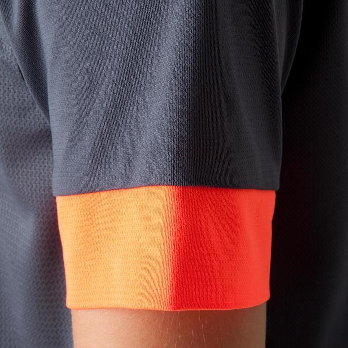 Camiseta de fútbol niños F500 gris y naranja