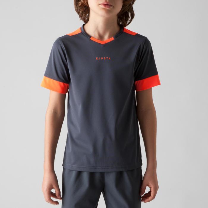 Maillot de football enfant F500 bleu et marine - 1266242