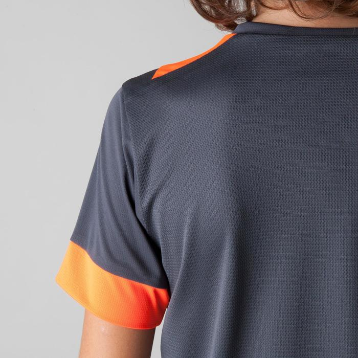 Maillot de football enfant F500 gris et orange