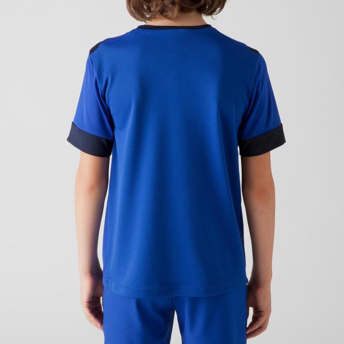 Voetbalshirt voor kinderen F500 blauw/marineblauw