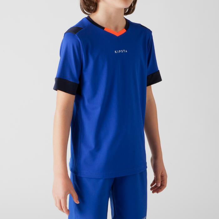 Maillot de football enfant F500 bleu et marine - 1266254