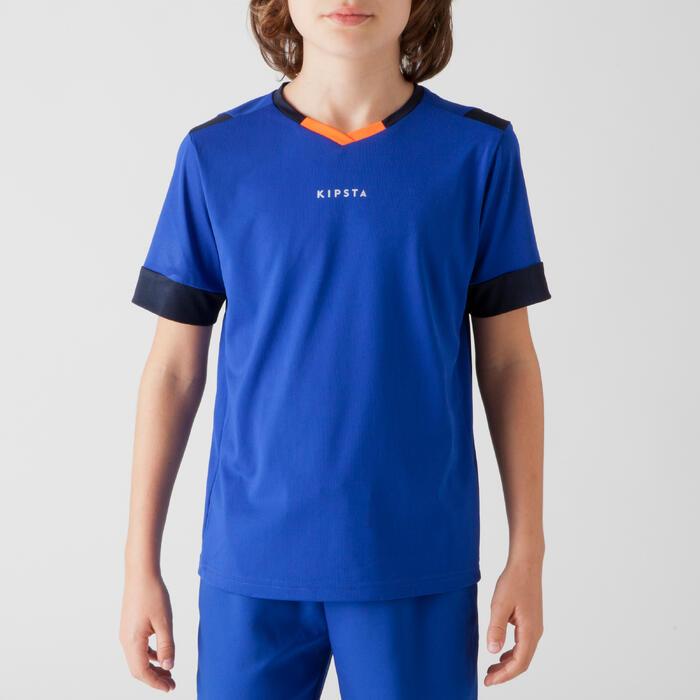 Maillot de football enfant F500 bleu et marine - 1266256