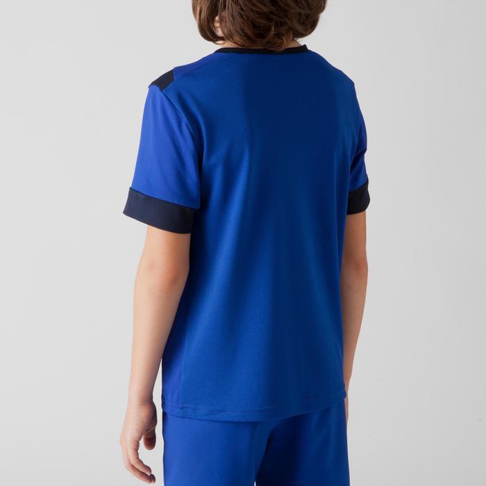 Maillot de football enfant F500 bleu et marine - 1266257