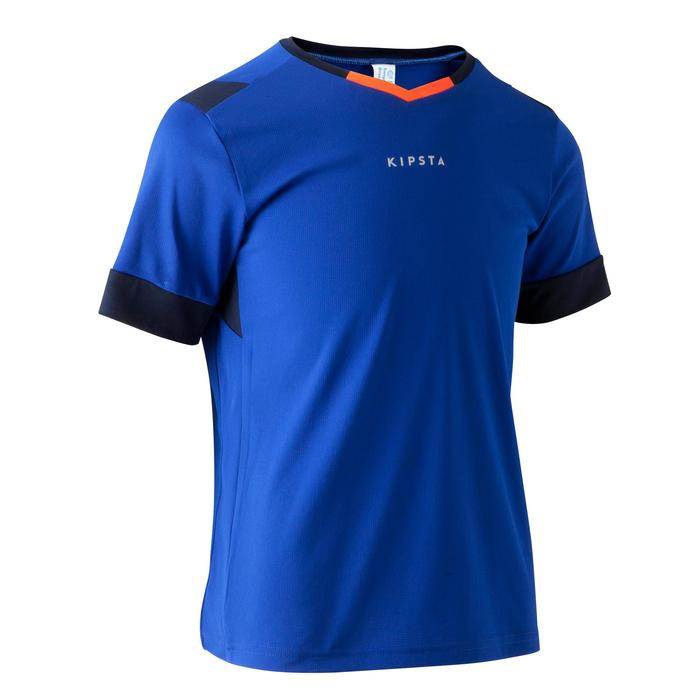 Maillot de football enfant F500 bleu et marine - 1266258