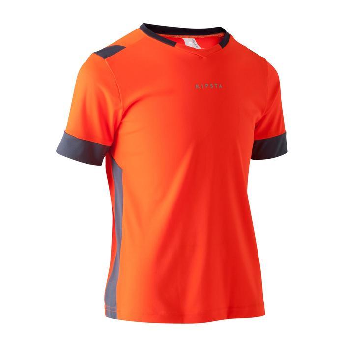 Maillot de football enfant F500 orange et gris