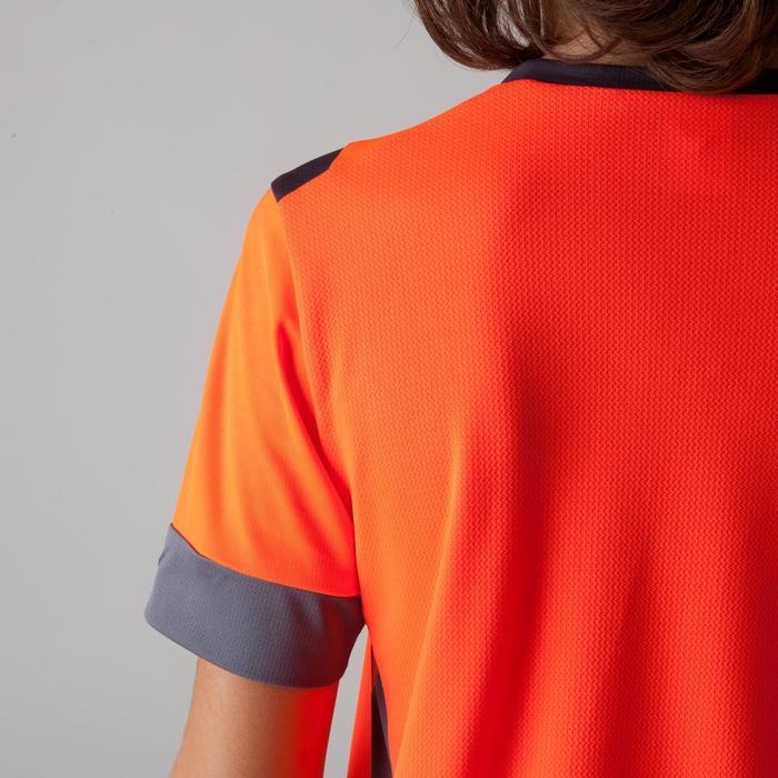 Camiseta de fútbol niños F500 naranja y gris