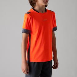 Fußballtrikot F500 Kinder orange/grau
