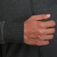 Veste capuche ABSORB+ musculation homme gris foncé