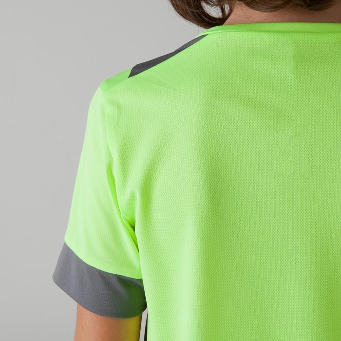 Camiseta de fútbol niños F500 amarillo y gris