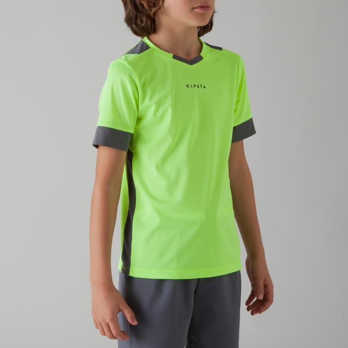 Maillot de football enfant F500 jaune et gris