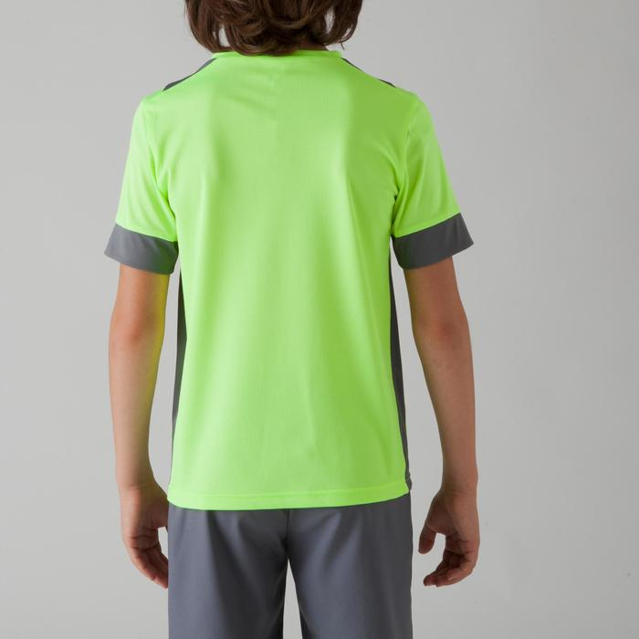 F500 Kids' Football Shirt - Yellow/Grey