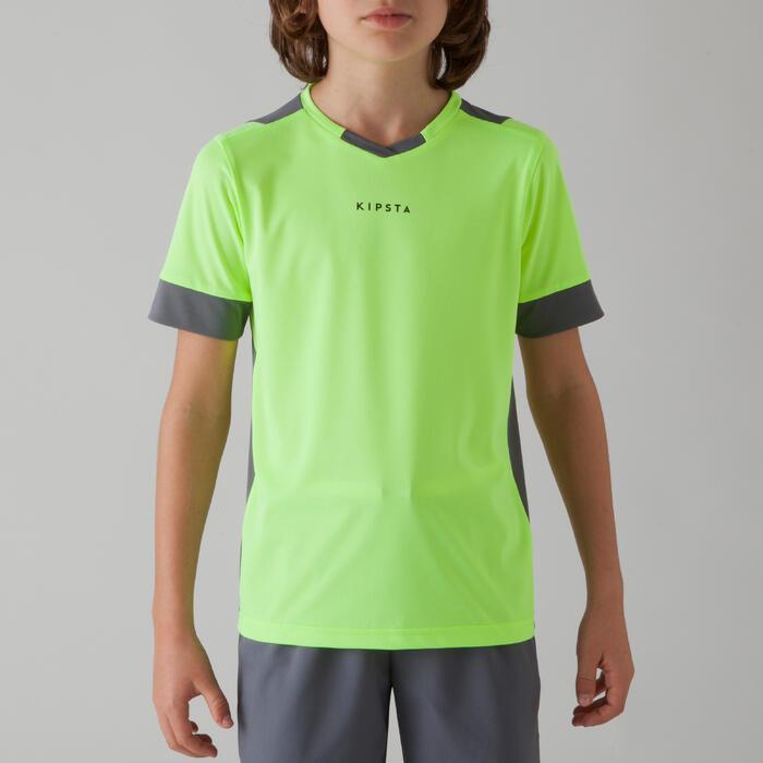 Maillot de football enfant F500 bleu et marine - 1266281