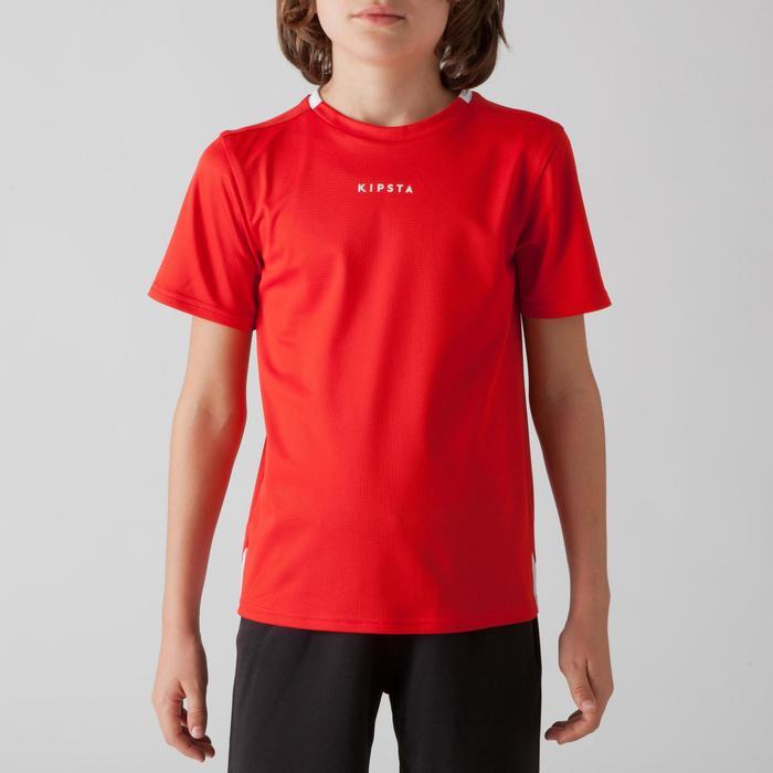 Fußballtrikot F100 Kinder rot