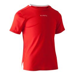 Camisola de Futebol Criança F100 Vermelho