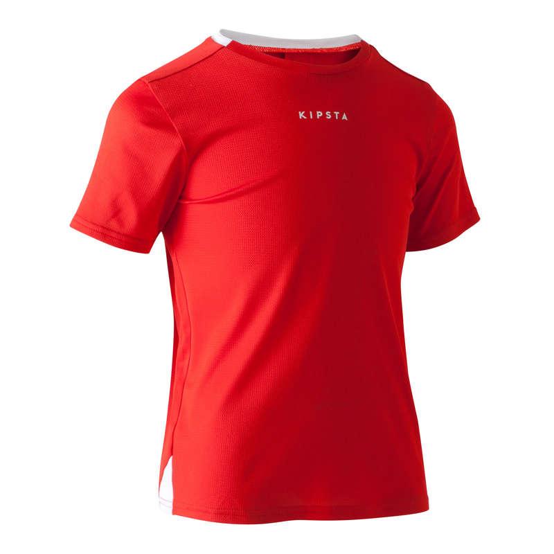 ABBIGLIAMENTO CALCIO JUNIOR LEGGERO Sport di squadra - Maglia calcio jr F100 rossa KIPSTA - Abbigliamento Futsal