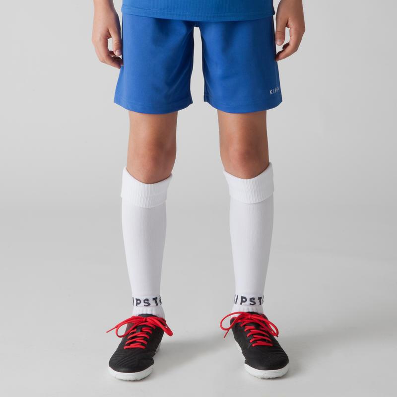 กางเกงฟุตบอลสำหรับเด็กรุ่น F100 (สีน้ำเงิน)