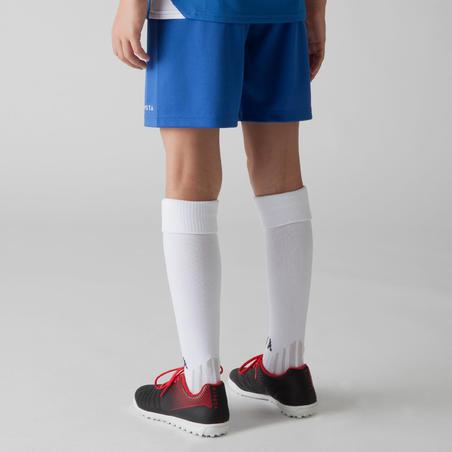 Short de fútbol niños F100 azul zafiro