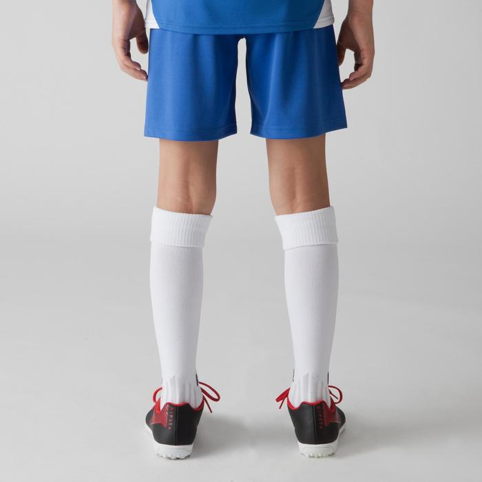 Short de football enfant F100 bleu