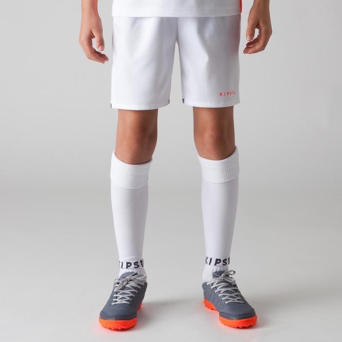 Short de football enfant F500 gris et - 1266328
