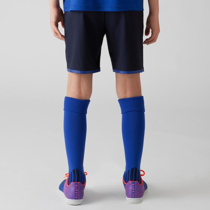 Short de football enfant F500 gris et - 1266346