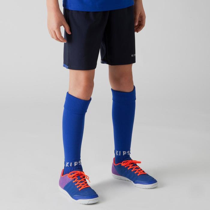 Short de football enfant F500 gris et - 1266347