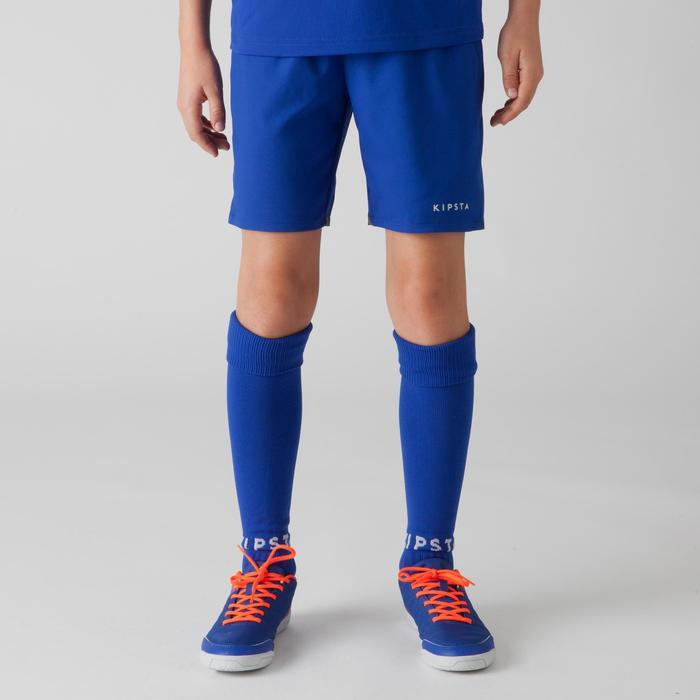 Short de football enfant F500 gris et - 1266351