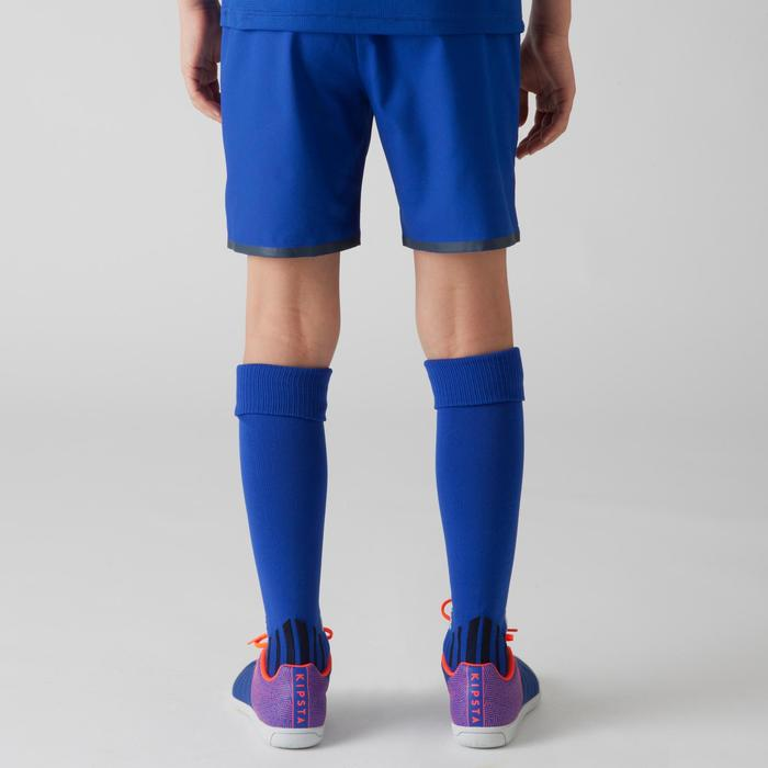 Pantalón corto de fútbol júnior F500 azul índigo