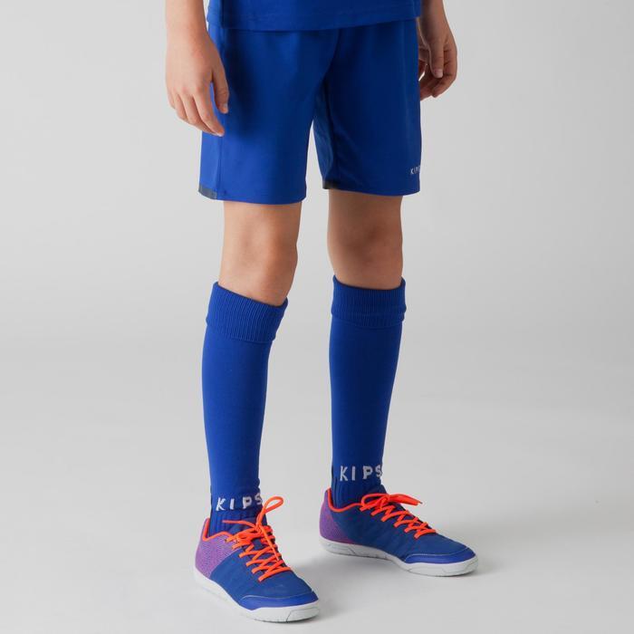 Short de football enfant F500 gris et - 1266355