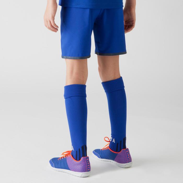 Short de football enfant F500 gris et - 1266356