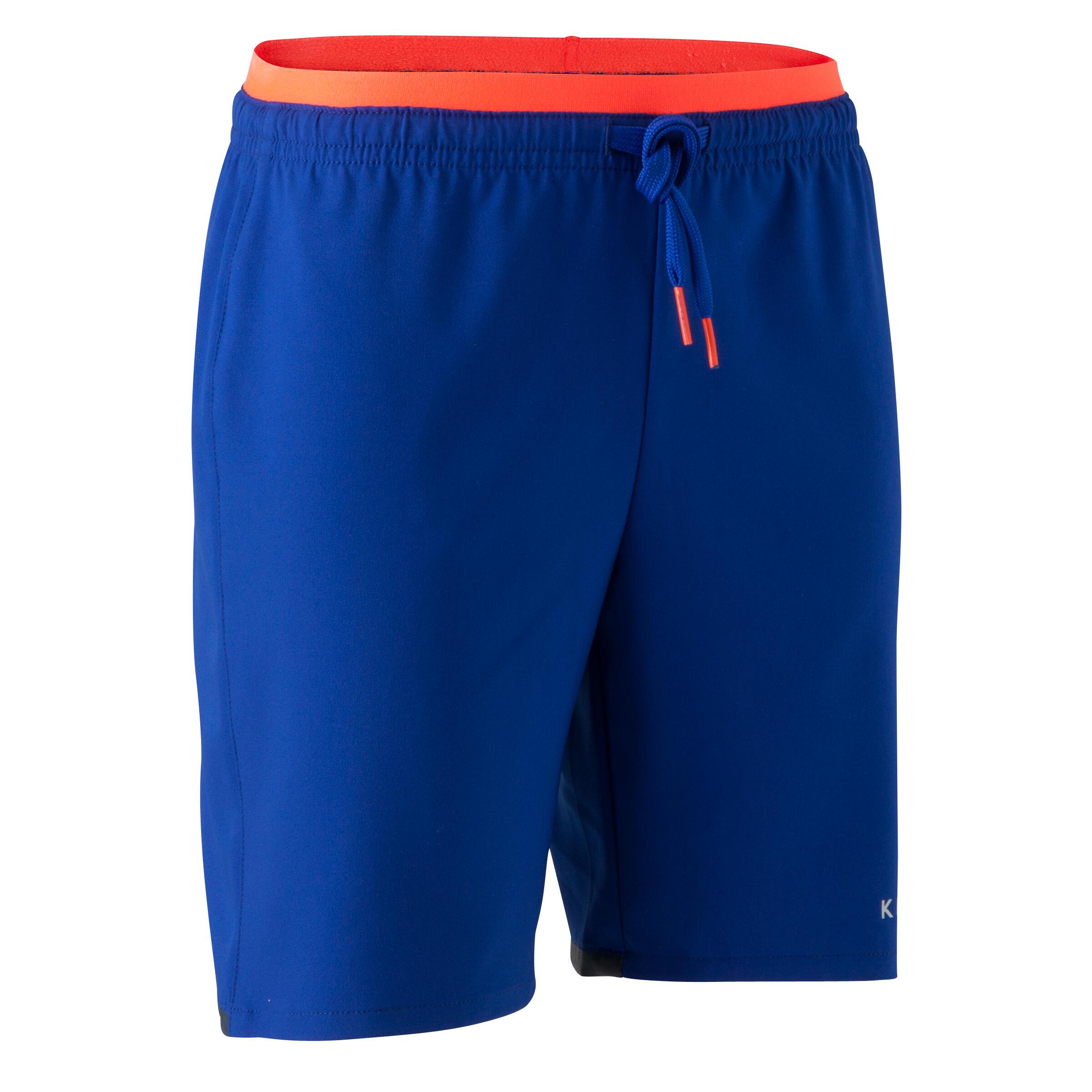 Short de fútbol niños F500 azul índigo
