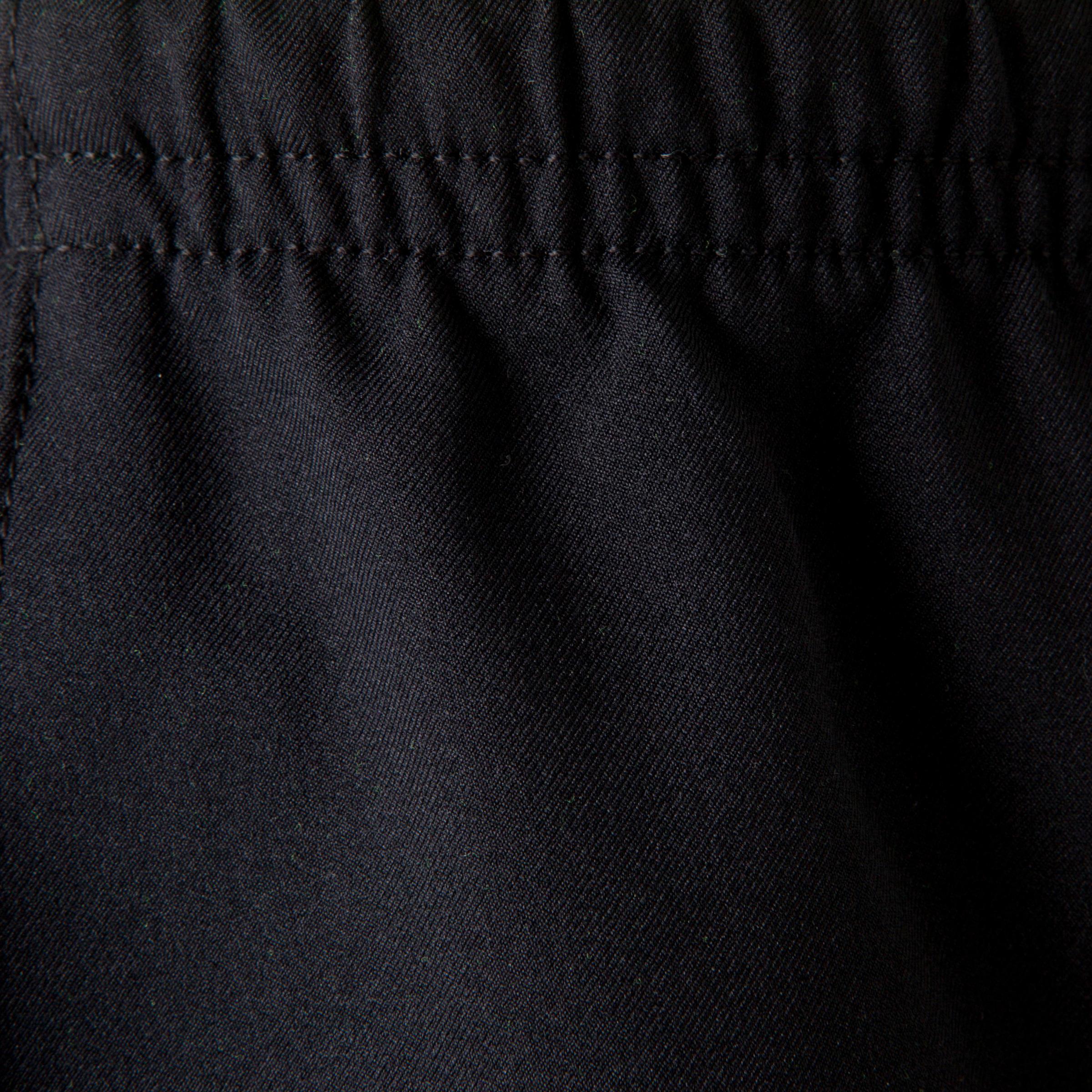 Kids' Football Shorts F500 - Black/Neon Yellow