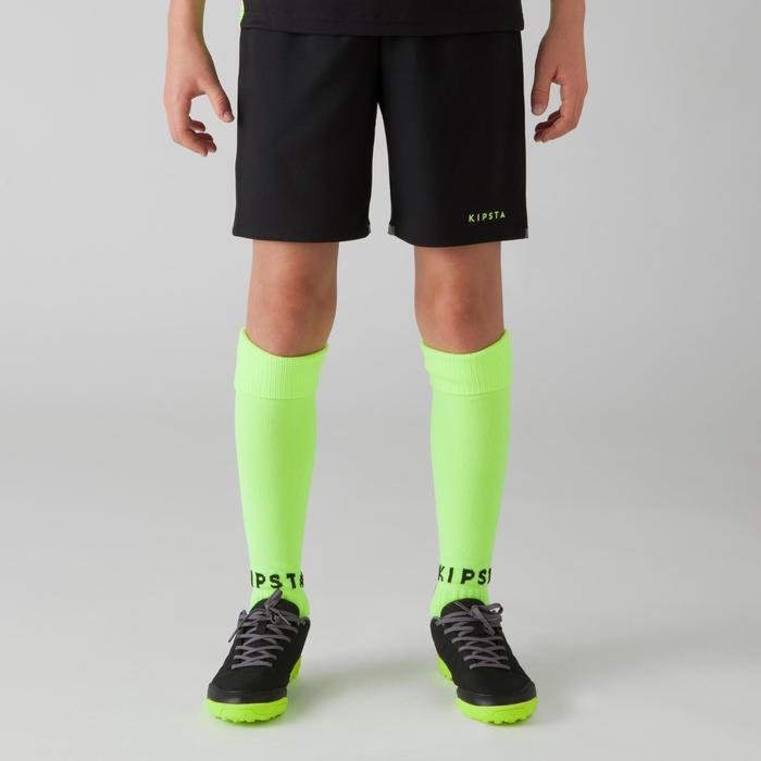 Short de football enfant F500 gris et - 1266368