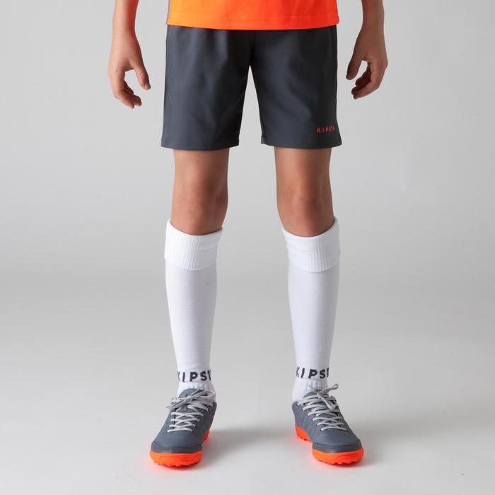 F500 Kids' Football Shorts - Grey/Orange