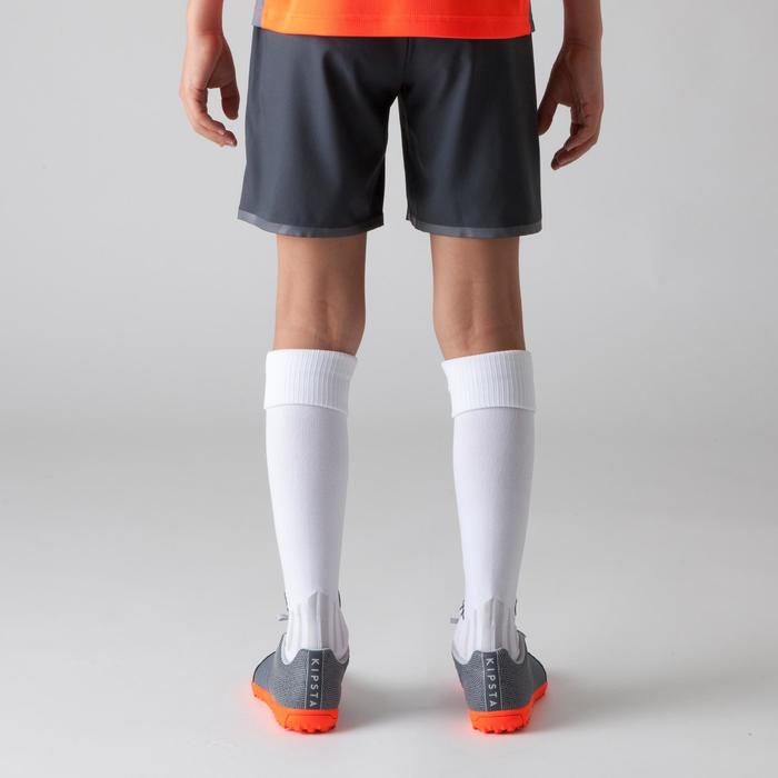 F500 Kids' Football Shorts - Grey and Yellow - 1266375