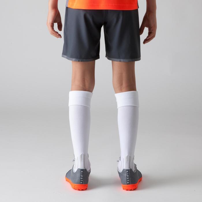Voetbalshort F500 voor kinderen grijs oranje