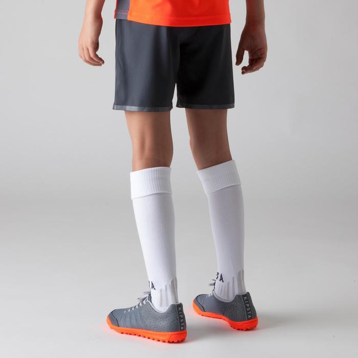 Voetbalshort voor kinderen F500 grijs/oranje