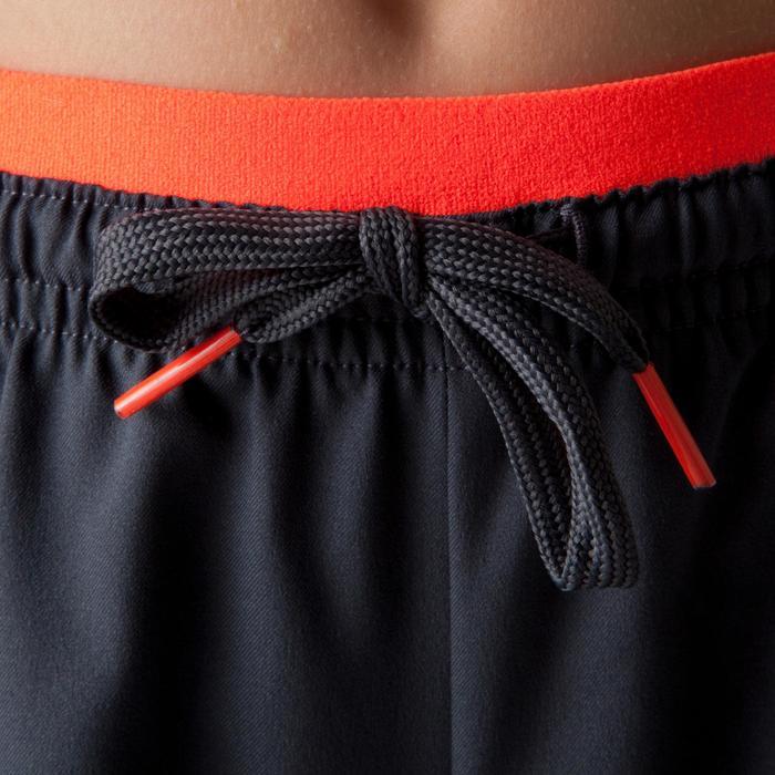 Pantalón corto de fútbol júnior F500 gris naranja