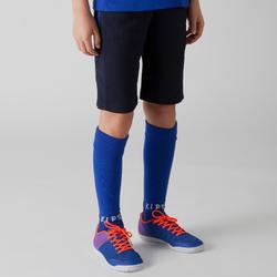 Pantalón corto entrenamiento Fútbol Kipsta T500 niños Azul Marino