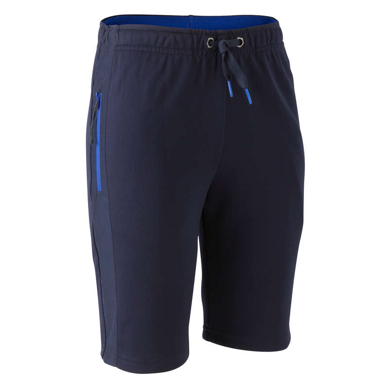 JR COLD WEATHER OUTFIT Football - T500 Long Shorts - Navy Blue KIPSTA - Football Clothing