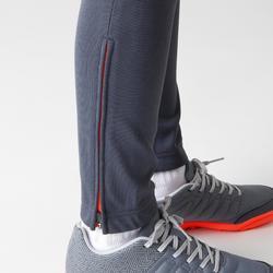 兒童款足球訓練長褲TP500-灰色/橘色