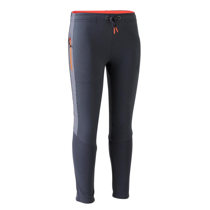 Pantalon d'entraînement de football enfant TP500 gris orange