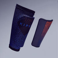 F180 Soccer Shin Pads Blue/Orange - Adults
