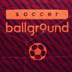 Voetbal Ballground 100 maat 5 rood